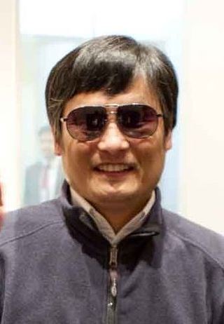 Chen Guangcheng at the US Embassy in Beijing on 1 May 2012