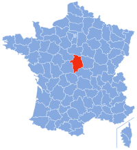 Location of Cher in France