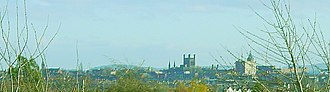 Blacon - Chester Cathedral viewed from Blacon.