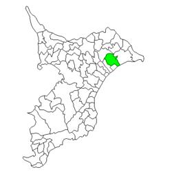 Loko de Yōkaichiba en Ĉiba-gubernio