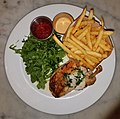 Chicken breast, fries, and salad - Boston, MA.jpg