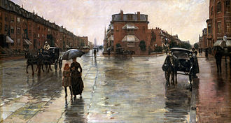 Childe Hassam - Rainy Day, Boston (1885), Toledo Museum of Art in Ohio