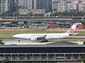 China Airlines B-18307 in Songshan Airport Apron 20120825.jpg