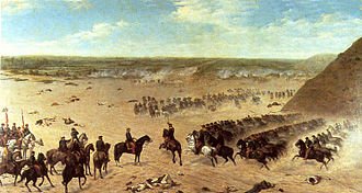 Land Campaign of the War of the Pacific - Chilean charge during the Battle of San Juan.