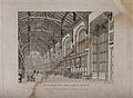 Christ Church, Oxford; interior of hall. Line engraving by J Wellcome V0014083.jpg