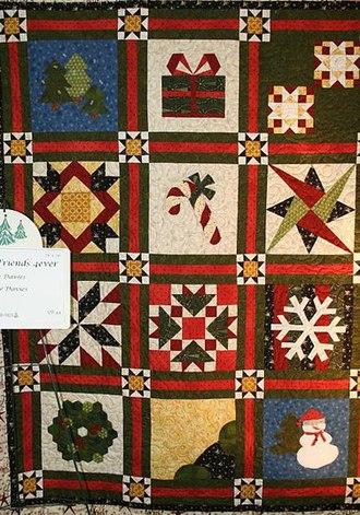 Mormon folklore - Image: Christmas sampler patch quilt