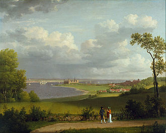 Christoffer Wilhelm Eckersberg - View north of Kronborg Castle