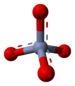 Ball-and-stick model of the chromate anion