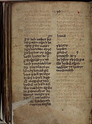 Brut y Tywysogion - Image: Chronical of the Princes (f.260)