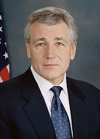 {{w|Chuck Hagel}}, U.S. Senator from Nebraska.