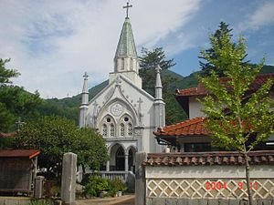 Tsuwano, Shimane - Catholic Church at Tsuwano