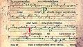 Cistercian neumes - Medieval music - Offertorium. In omnem terram - Schøyen collection - MS 207, 12th century - detail.jpg