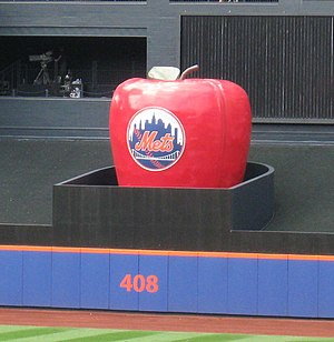 Citi Field - Citi Field's Home Run Apple located in center field.