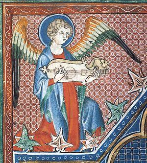 Citole - Image: Citole Robert De Lisle Psalter