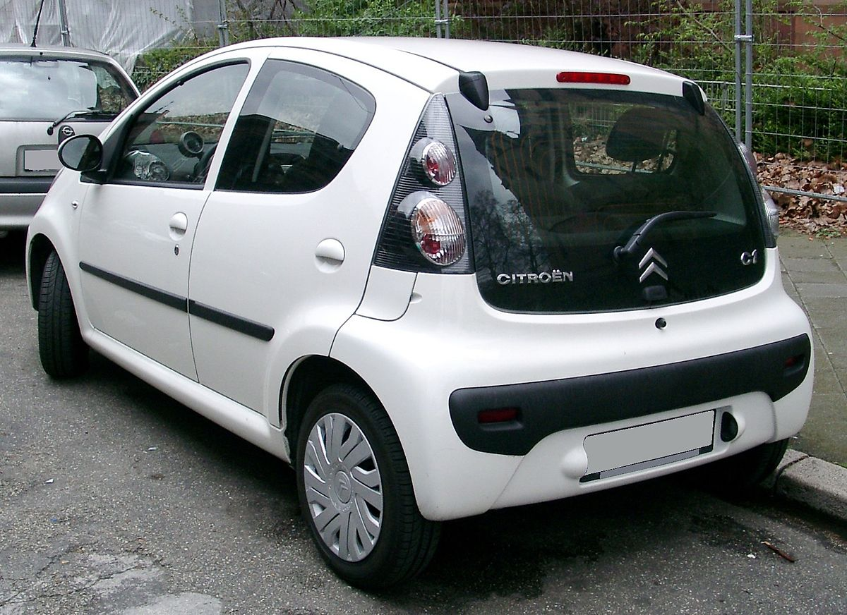 File Citroen C1 Rear 20080417 Jpg Wikimedia Commons