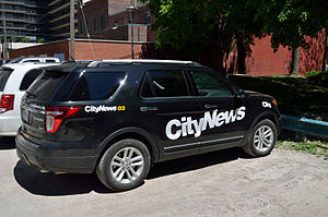 CityNews - A CityNews vehicle parked in Toronto.