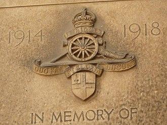 City of London Artillery - Badge of the City of London Artillery
