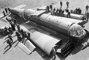 Airspeed Horsa - The main components of a Horsa, as delivered by their manufactures, and a group of civilian workers responsible for their assembly into a complete aircraft. RAF Brize Norton, Oxfordshire, 26 April 1944