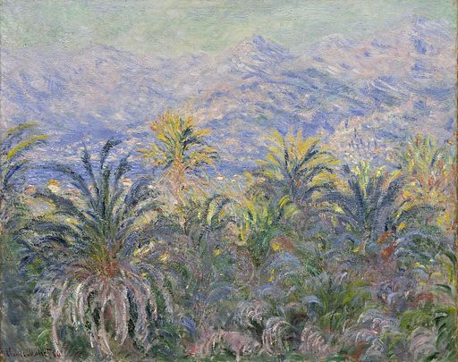 Claude Monet - Palm Trees at Bordighera