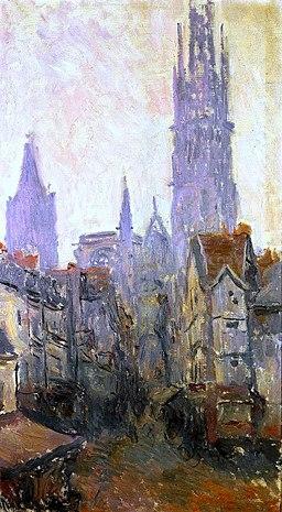 Claude Monet rue epicerie Rouen