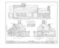 Clement Weaver House, 125 Howland Road, East Greenwich, Kent County, RI HABS RI,2-GREWIE,1- (sheet 3 of 9).png