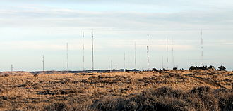 Coburn Hill - The radio and television tower farm on Coburn Hill in 2013.