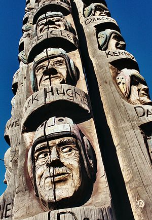 "English: The ""Codger Pole"" in Colfax..."