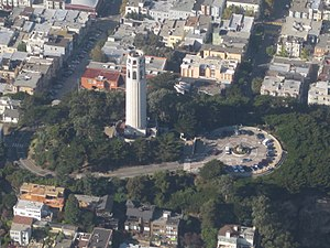 Coit Tower - Coit Tower in 2008, looking WSW