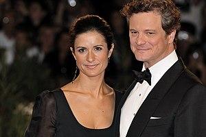 Colin Firth and Livia Giuggioli at 2009 Venice...