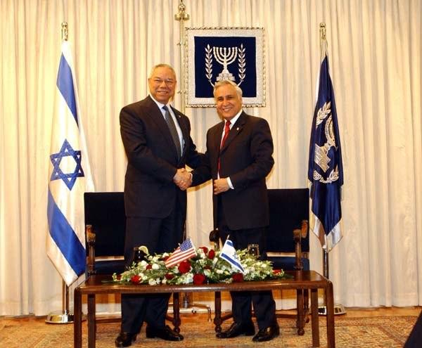 Colin Powell & Moshe Katsav 2003-05-11