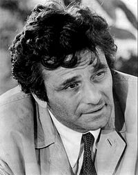 Peter Falk interprétant le Lieutenant Columbo