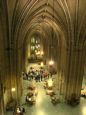The Cathedral of Learning at the University of Pittsburgh Commons Room (Cathedral of Learning) - Pitt - IMG 0573.jpg