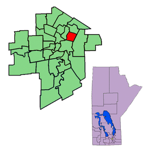 Concordia (electoral district) - The 1999-2011 boundaries of Concordia highlighted in red.