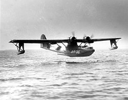 Consolidated PBY Catalina landing at Naval Air Station Jacksonville, Florida (USA), circa in 1943.jpg