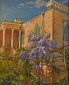 Constantin Westchiloff - A House with Flowering Trees along the Amalfi Coast of Italy.jpg