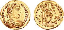 Pièce en or de Constantin III
