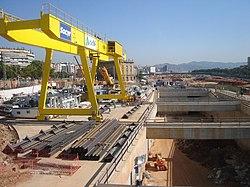 Construcción del túnel del AVE en la Sagrera - panoramio.jpg