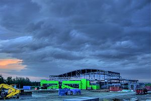 Construction site near St. Albert, Alberta, Ca...