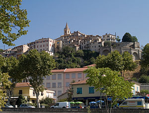 Contes, Alpes-Maritimes - A view of Contes, looking up to the tower of the church of Sainte-Marie-Madeleine