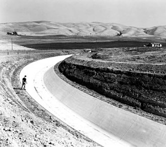 Contra Costa Canal - Image: Contra Costa Canal 1940