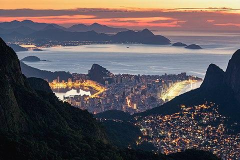 Contrasts of Rio de Janeiro - Rocinha, Ipanema, and Mountains at Sunrise