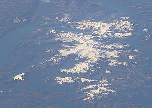 Cordillera Darwin - NASA oblique image