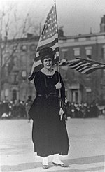 Cornelia Bryce Pinchot at Suffragette Parade in New York City in 1917.jpg