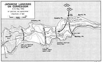 Fort Mills - Japanese landings on Corregidor, 5–6 May 1942