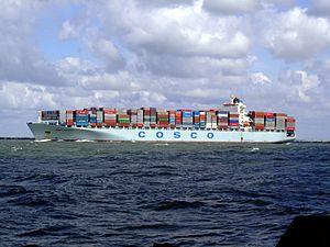 Cosco Seattle p3, leaving Port of Rotterdam, Holland 29-Jul-2007.jpg
