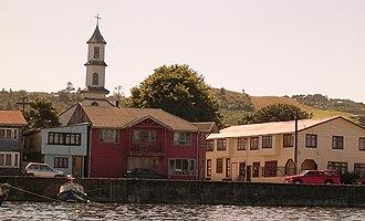 Dalcahue - Image: Costanera de Dalcahue e iglesia
