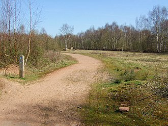 New Lount - Image: Country park track geograph.org.uk 690235