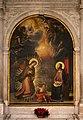 Cristofano allori, annunciazione dall'annunziata di firenze, entro altare con stemmi panciatichi, 02.jpg