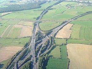Croix de Cessange - Aerial view of the Croix de Cessange