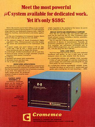 Cromemco Z-2 - Cromemco Z2 advertisement, July 1977